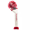 Two Stripe Pom Pom - White W /  2 Red Stripes