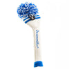 Two Stripe Pom Pom Headcover - White W / 2 Royal Stripes