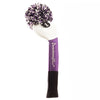 Tri Stripe Pom Pom Headcover - White / Purple / Black