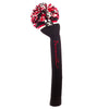 Victory Stripe Pom Pom Headcover - Black - Red / White