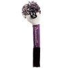 Tri Stripe Pom Pom Headcovers - White / Purple / Black