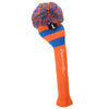 Rugby Stripe Pom Pom Headcover - Orange / Royal