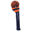 Rugby Stripe Pom Pom Headcover - Navy / Orange