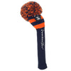 Rugby Stripe Pom Pom Headcovers - Navy / Orange