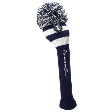Rugby Stripe Pom Pom Headcover - Navy / White