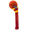 Rugby Stripe Pom Pom Headcovers - Red / Yellow