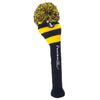 Rugby Stripe Pom Pom Headcover - Black / Yellow