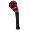 Rugby Stripe Pom Pom Headcover - Black / Red