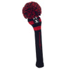 Rugby Stripe Pom Pom Headcovers - Black / Red
