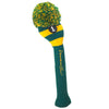 Rugby Stripe Pom Pom Headcover - Green / Yellow