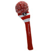 Rugby Stripe Pom Pom Headcover - Red / Grey