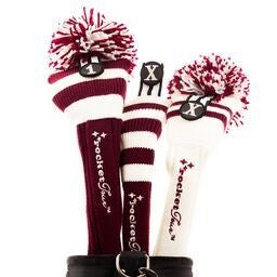 Golf Headcovers Gift Set Red/White