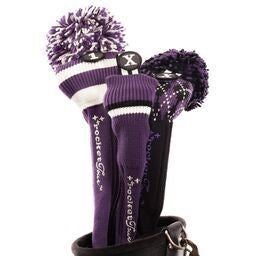 Golf Headcovers Gift Set - Purple, White and Black
