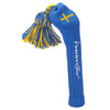 Solid Tassel Headcover with Flag - Swedish
