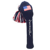 Solid Tassel Headcover with Flag - USA