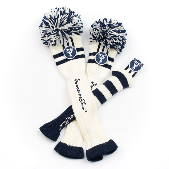 TENNESSEE TGA - TWO STRIPE  - WHITE / NAVY (Select Size - each cover sold individually)