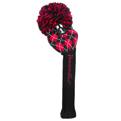Black/Red Pom Pom Headcovers