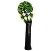 Black / Lime Knit Golf Headcovers