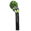 Argyle Pom Pom - Black / Lime