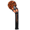 Black / Orange Knit Golf Headcovers