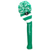 Rugby Stripe Pom Pom Headcover - Grass Green / White