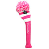 Rugby Stripe Pom Pom Headcover - Hot Pink / White