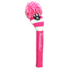 Rugby Stripe Pom Pom Headcovers - Hot Pink / White