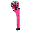 Victory Stripe Pom Pom Headcovers - Hot Pink / Black / White
