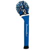 Victory Stripe Pom Pom Golf Headcovers - Royal Black / White
