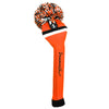 Victory Stripe Pom Pom Headcovers - Orange Black / White