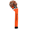 Victory Stripe Pom Pom Golf Headcovers - Orange Black / White