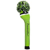 Victory Stripe Pom Pom Headcovers - Lime - Black / White