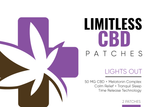 Limitless CBD Patches - Lights Out! 50mg CBD/Sleep Complex 2 Patch Pak - Limitless CBD