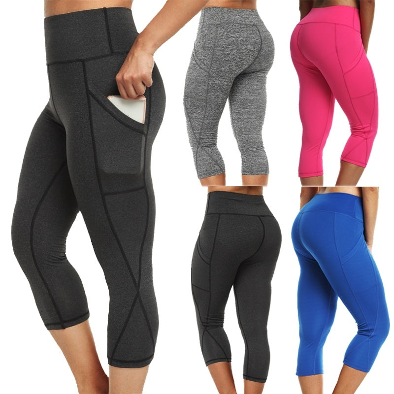 5ba47f0293 Sexy Women Fashion Slim Yoga Running Pants Stretchy Pants Workout Leggings  Capris