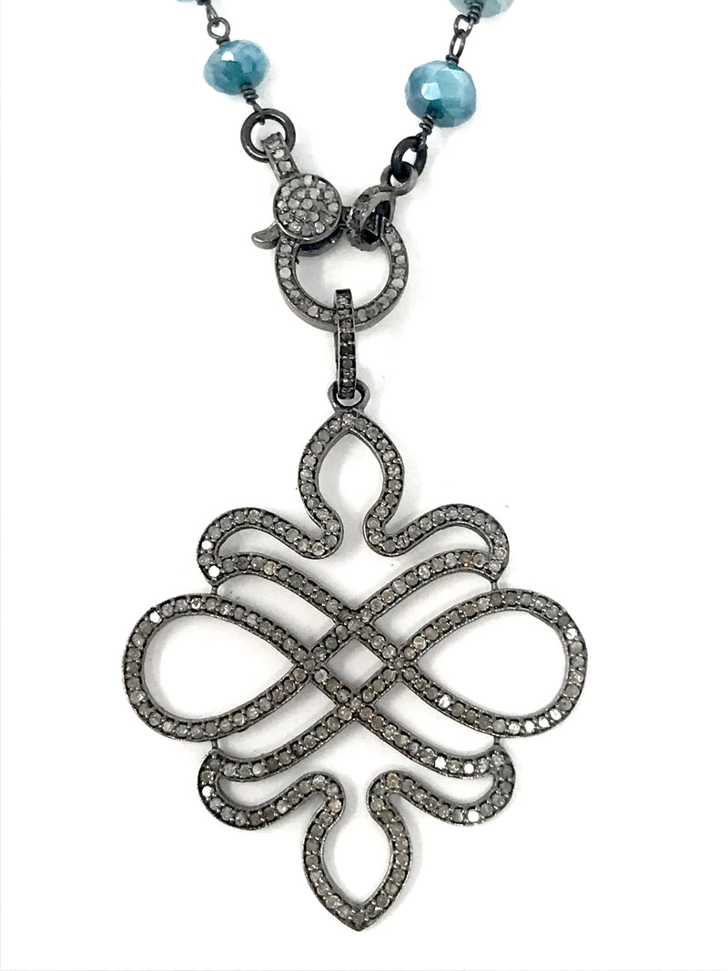 Art Nouveau Pave Diamond Pendant