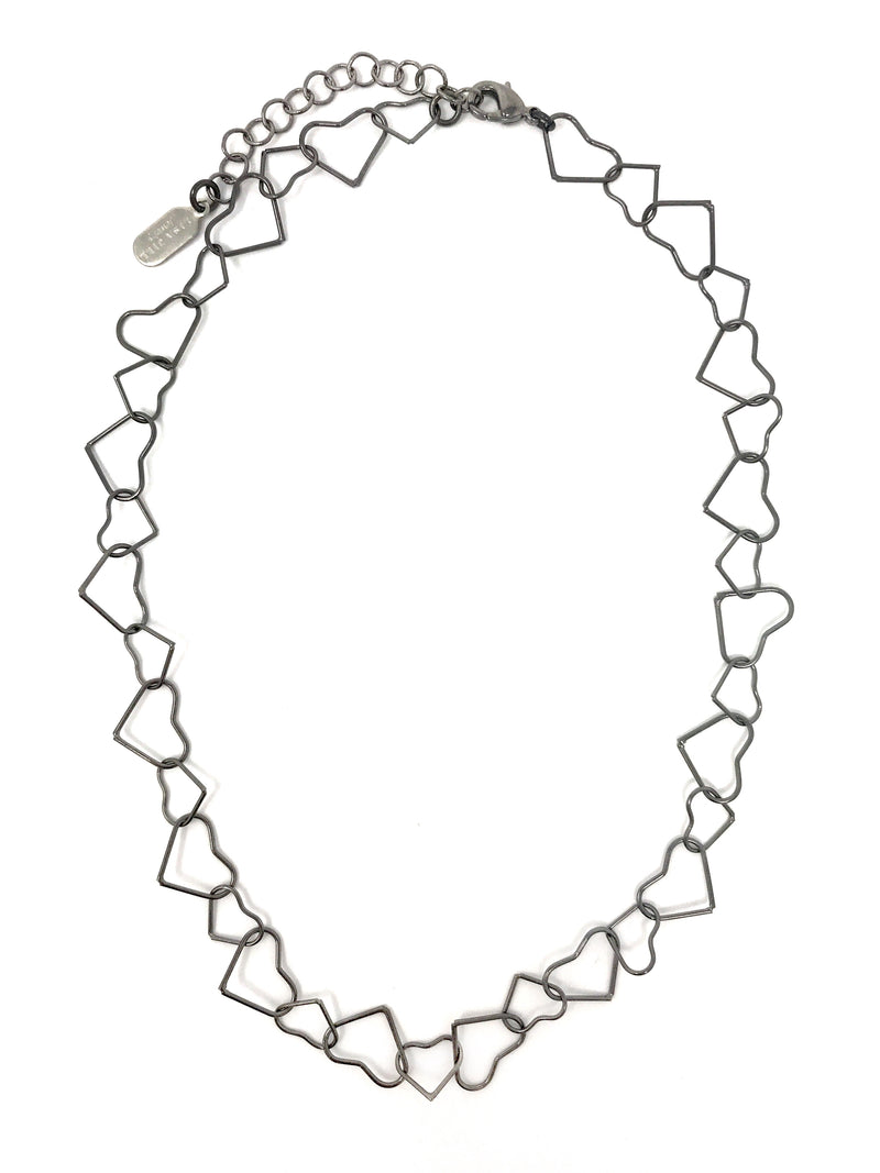 Open Hearts Link Chain Necklace