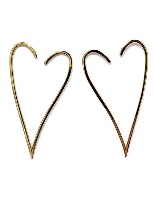 Outline Heart Earrings