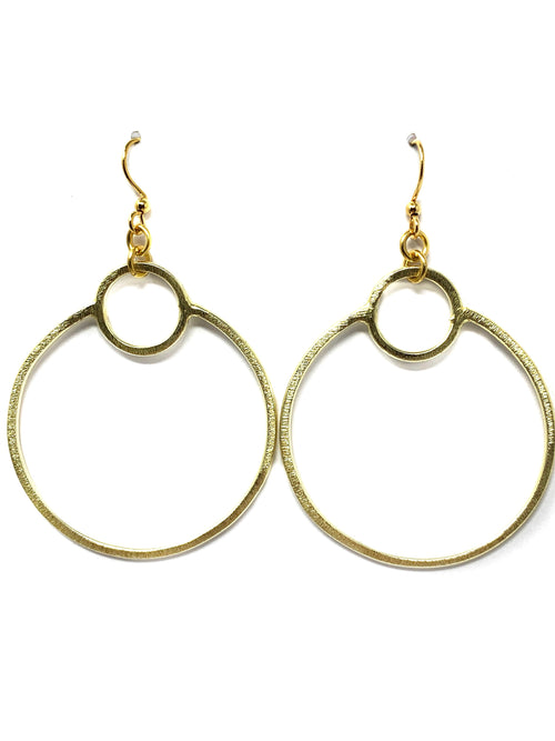 Gold Hoop within a Hoop Earrings