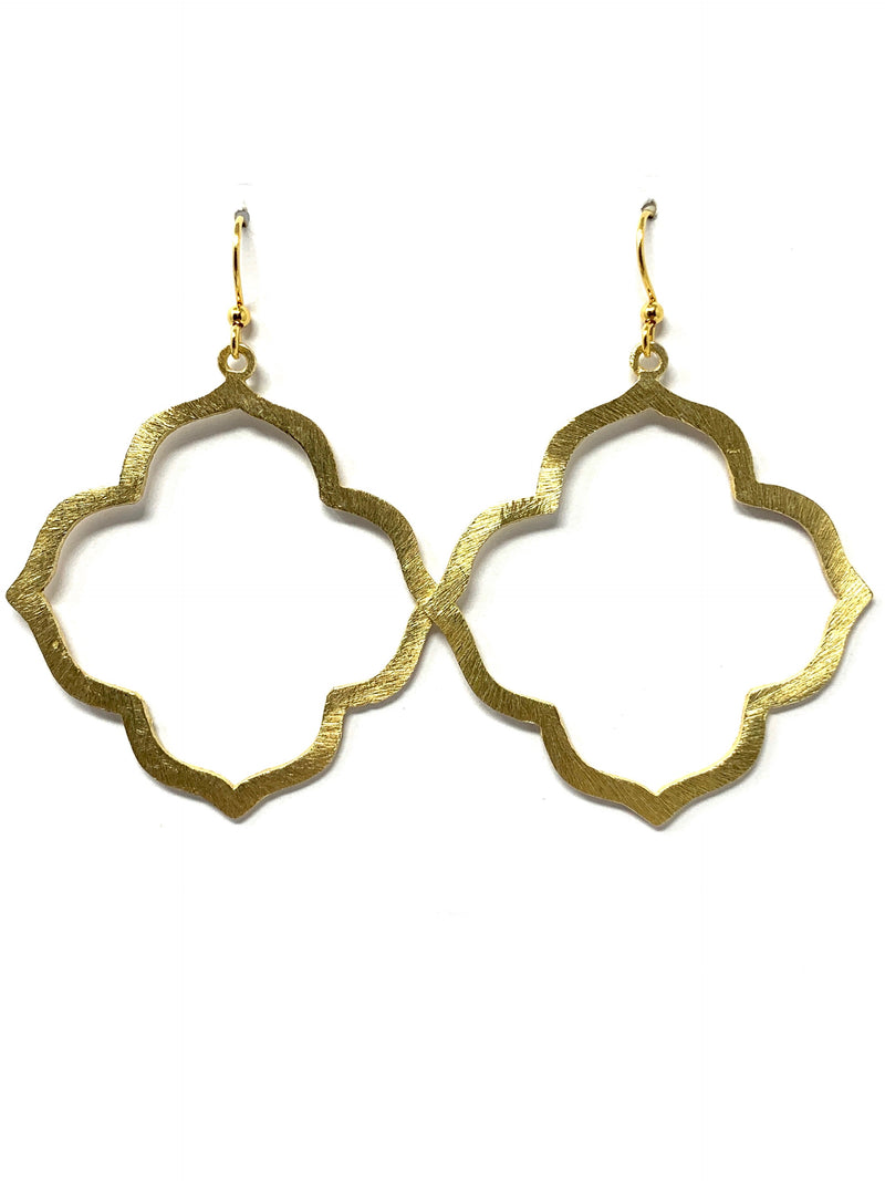 Gold Quatrafoil Earrings