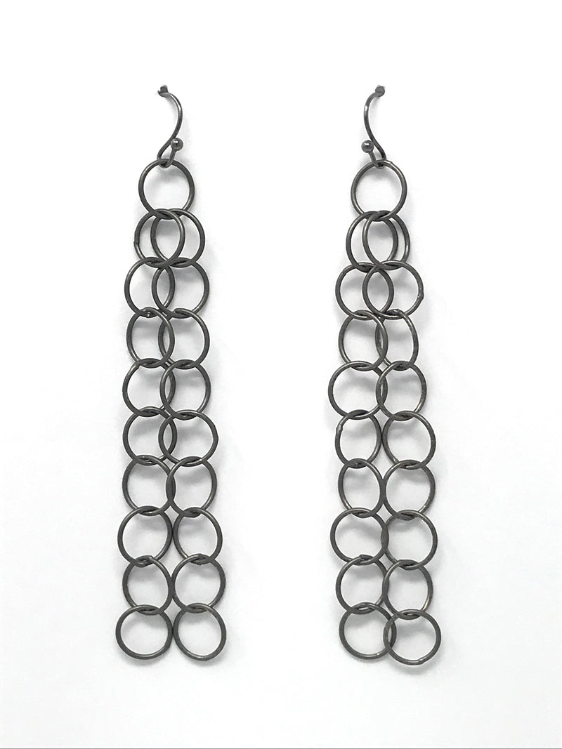 Gunmetal Chain Earrings