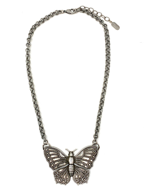 Vintage Large Butterfly Necklace
