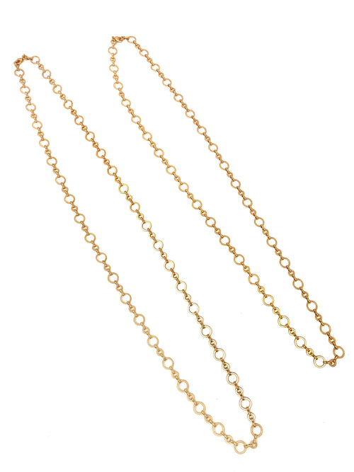 Ring Chain Matte Gold Necklace