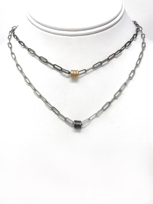 Chain with 5 Rings - Necklace