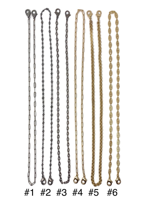 "28"" Assorted Mask Chains (Can be a Necklace and a BraceletToo)"