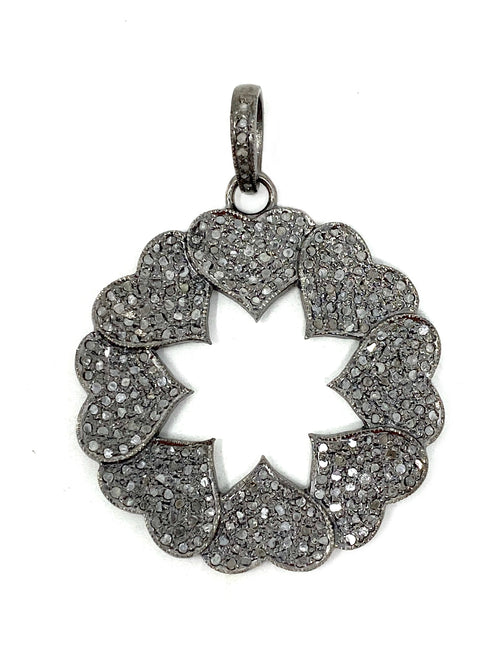 Diamond Circle of Hearts Pendant