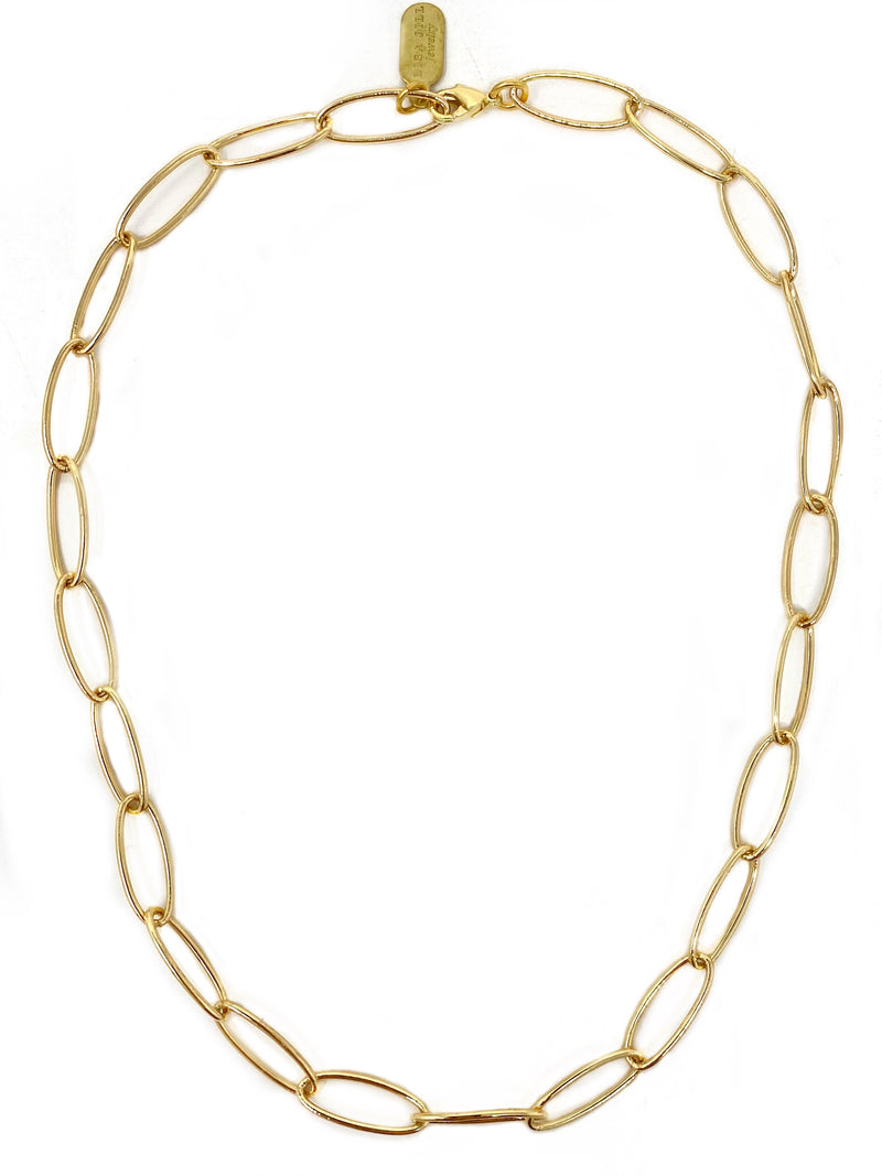 Elongated Oval Modern Chain