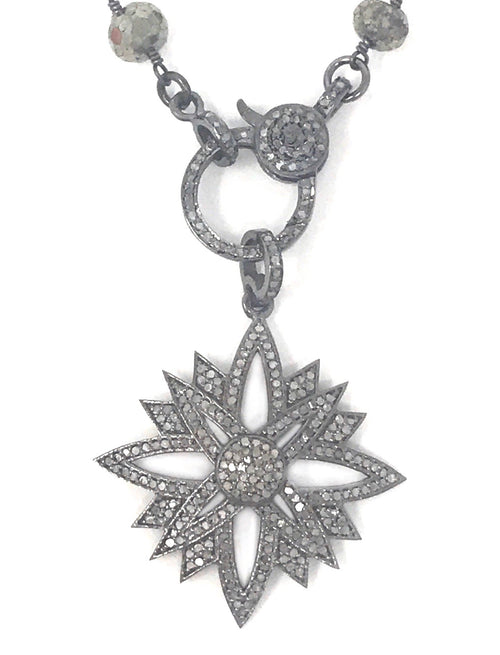 Small Pointy Pave Diamond Star Pendant