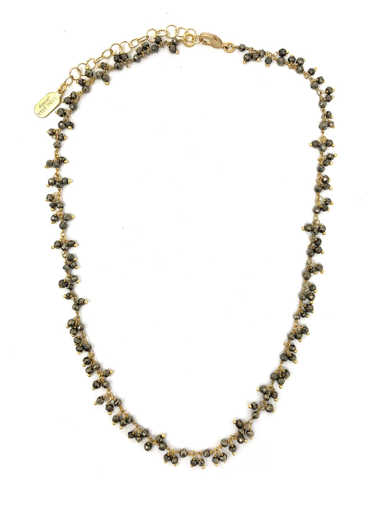 Pyrite Dangling Chain Necklace