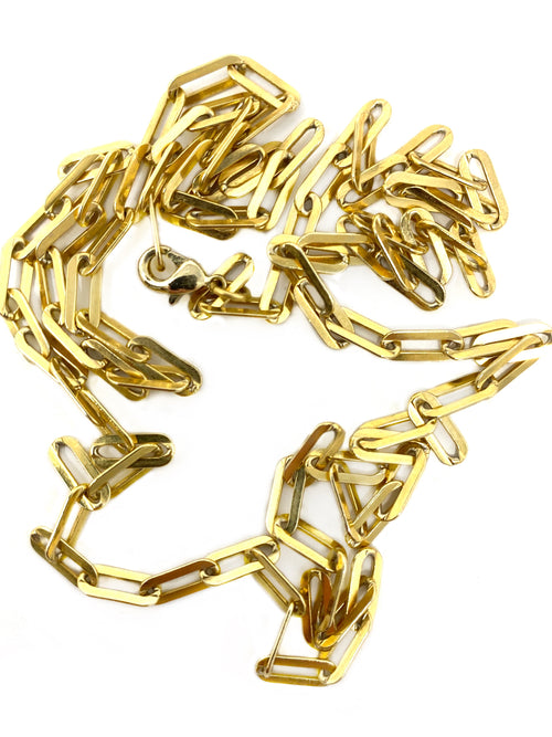 Gold Filled Paper Clip Chain