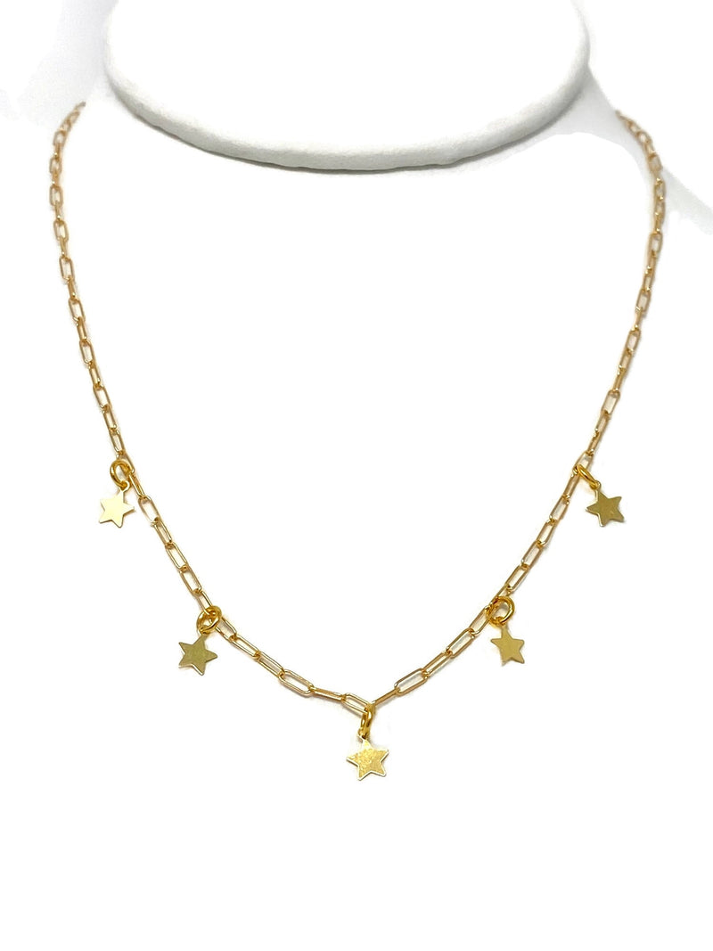 Dangling Vermeil Star Necklace